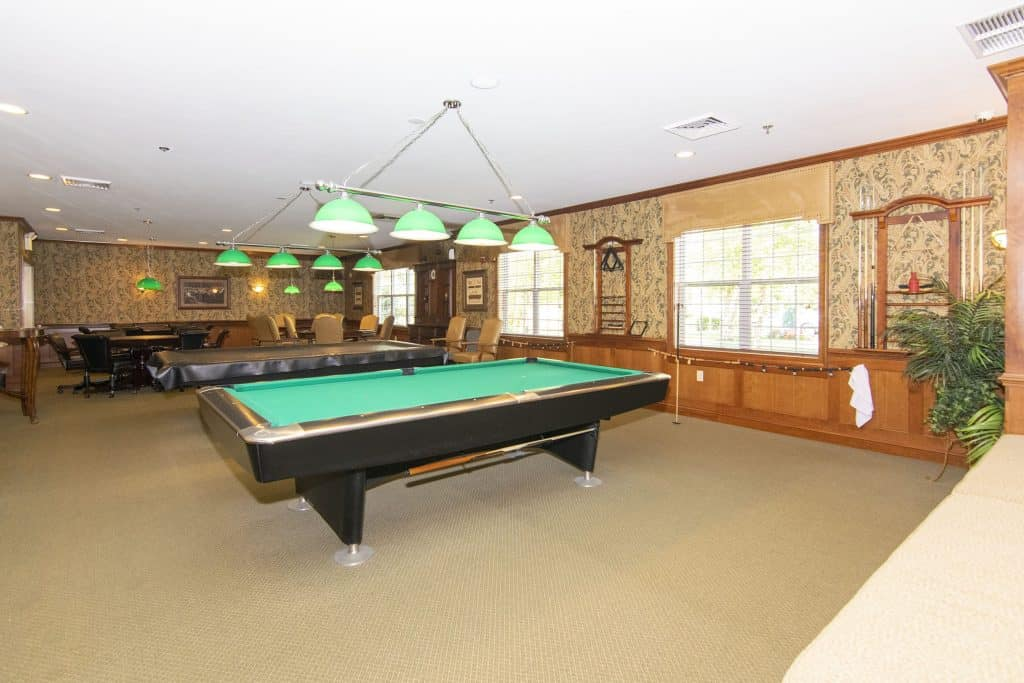 pool table at overview of Renaissance at Monroe
