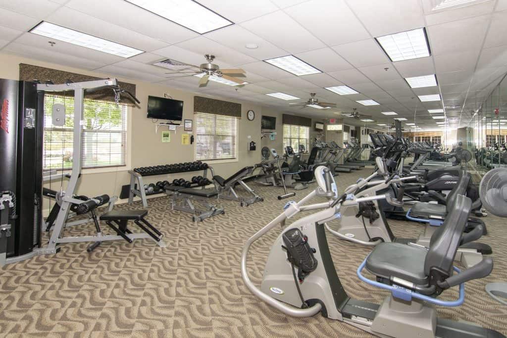 the gym at Renaissance at Monroe